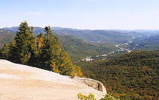View of Franconia Notch State Park Looking North From Mount Pemigewasset, Copyright 1999 - 2000, OutdoorPlaces.Com, All Rights Reserved