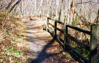 Newton Hills State Park Woodland Trail, Copyright 1999 - 2000, OutdoorPlaces.Com, All Rights Reserved