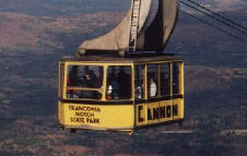 Cannon Mountain Aerial Tramway Car, Franconia Notch State Park, New Hampshire, Copyright 1999 - 2000, OutdoorPlaces.Com, All Rights Reserved